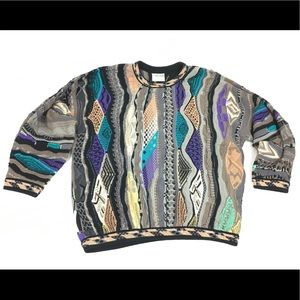 Coogi Long Sleeve Crewneck 100% Cotton Sweater